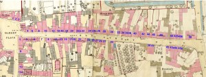 1870 Ordance Survey map of Sun Street