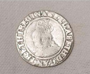 elizabeth I coin found in 1975 at 41 sun street