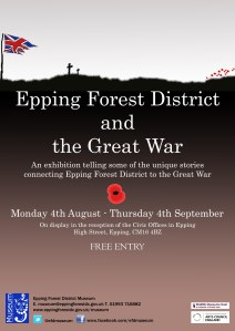 WW1 Exhibition poster