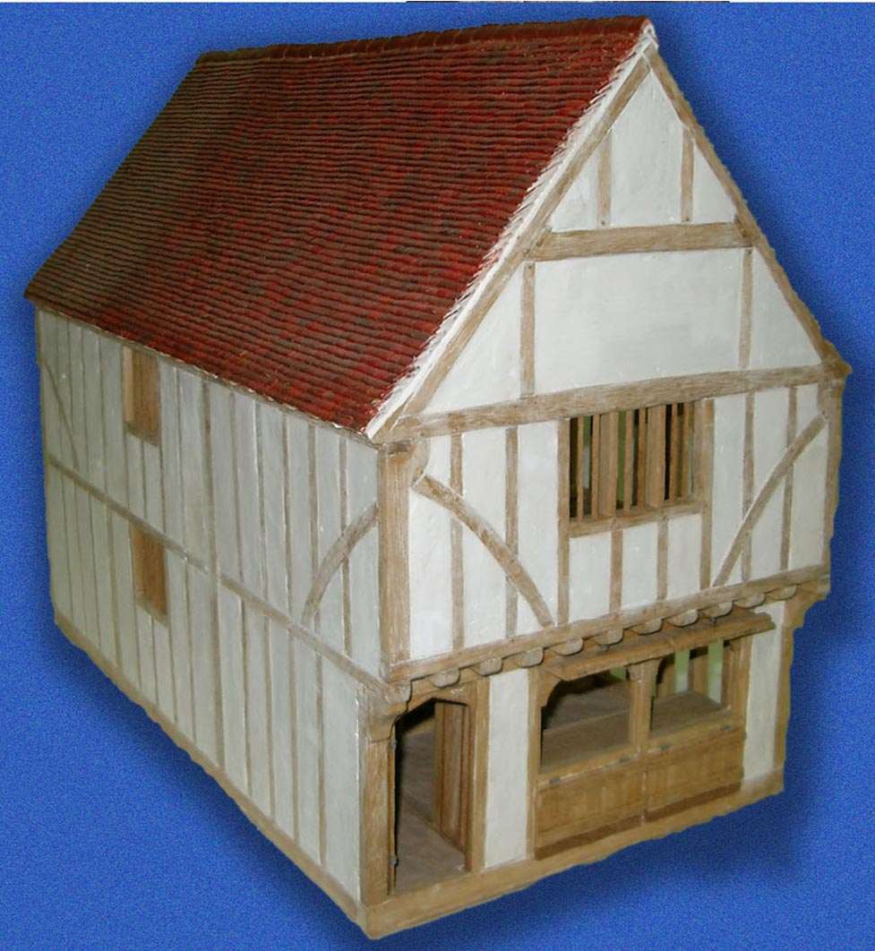 Model of a tudor house