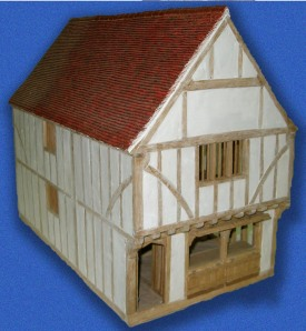 model of 41 sun street as it could have looked in 1520