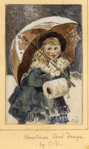 Deacon Christmas card design