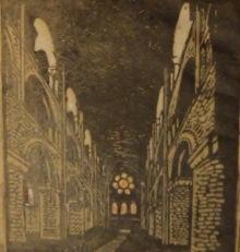 Mackey Card Proofs interior of Waltham Abbey Church