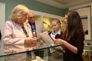 Curators take the Mayor on a tour of the museum