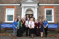 Takeover Day pupils, museum staff and school teachers with the Mayor outside the Museum