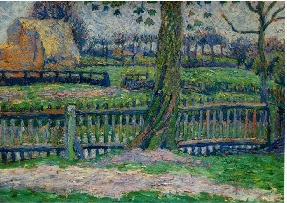 Lucien Pissarro The Garden Epping oil on canvas 1893-1897