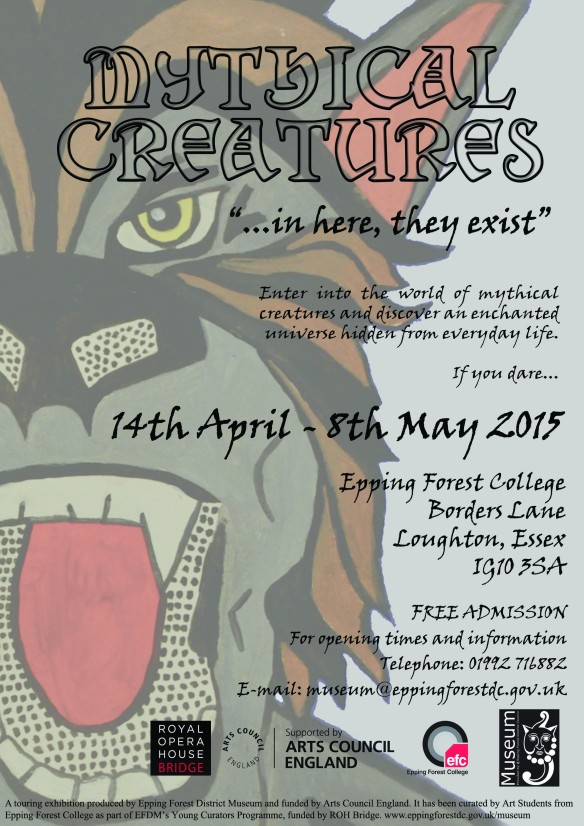 EFDM Mythical Creatures Exhibition Poster