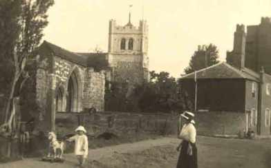 Abbey Church and gateway c.1907