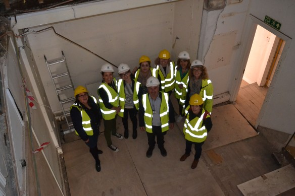 Museum team on a site visit