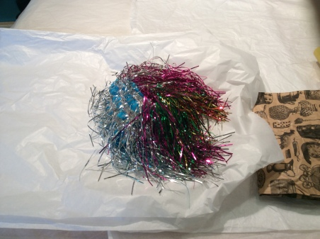 Katie's favourite object – the tinsel wig