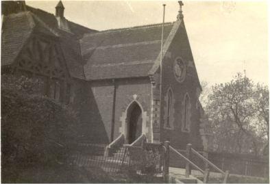 Old Village School at Upshire, demolished 1954