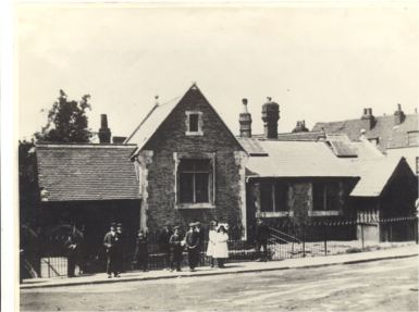 Girl's sunday school opposite the church in Waltham Abbey, demolished c.1900