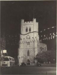 Waltham Abbey church decorated for coronation