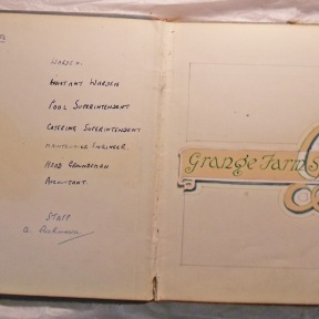 Grange Farm Visitor Book