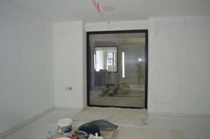 View through from store space to the Core Gallery - visitors will be able to see directly into the collection areas