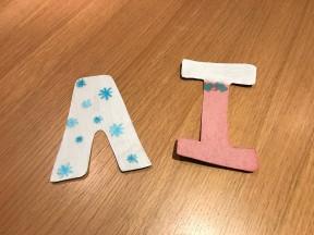 Big letters - paint