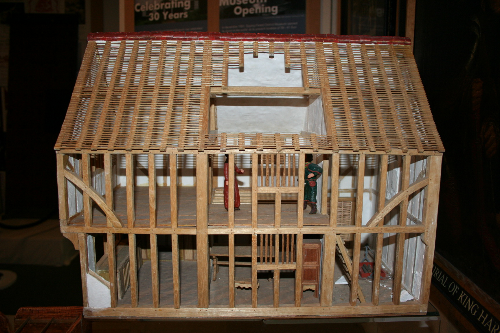 Model of Tudor House showing smoke bay